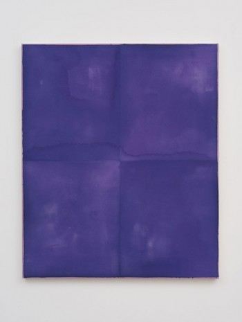 Matt Connors, Violet Example Monochrome / individually treated quadrants, 2013, Herald St