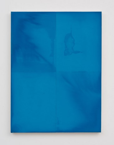Matt Connors, Blue Example Monochrome / Individually Treated Quadrants, 2013, Herald St
