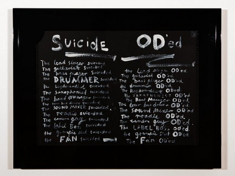 Nell, A Short History of Rock 'n' Roll - Suicide/O.D., 2013, Roslyn Oxley9 Gallery