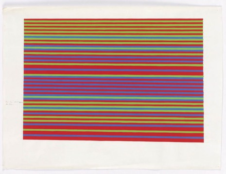 Bridget Riley, Early Colour Work - Stripes Study, 1973, Galerie Max Hetzler