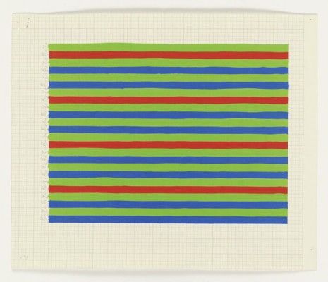 Bridget Riley, Early Colour Work - Small-scale stripes studies, 1973, Galerie Max Hetzler