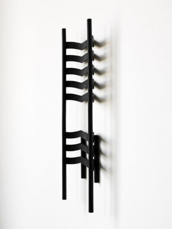 Ricky Swallow, Chair Study/Relief in Chevron (soot), 2013, Modern Art
