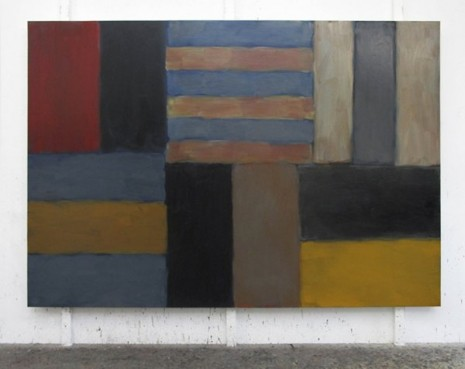 Sean Scully, Cut Ground Red Black Red, 2011, Kerlin Gallery