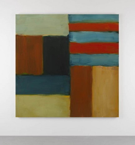 Sean Scully, Cut Ground Blue Red, 2011, Kerlin Gallery