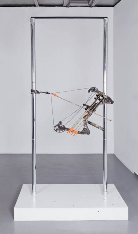 Timur Si Qin, Bow on stripper poles, 2012, Valentin