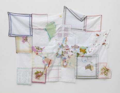 Jonathan Monk, The World in Handkerchiefs, 2011, Galleri Nicolai Wallner