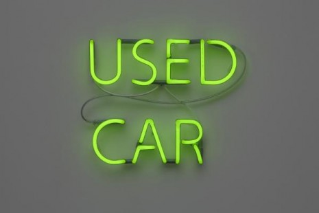 Jonathan Monk, Used Car (Mercedes C180 1993, DKK 87.000), 2011, Galleri Nicolai Wallner