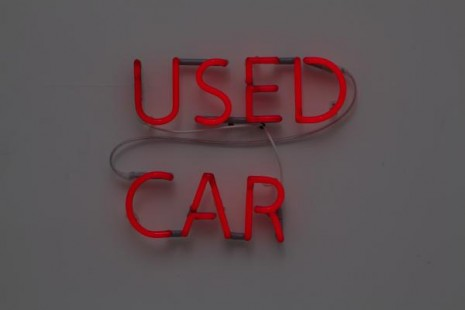 Jonathan Monk, Used Car (Alfa Romeo 156 1.8 16V 1998, DKK 45.000), 2011, Galleri Nicolai Wallner