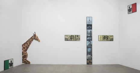 John Baldessari, Two Stories (Yellow and Blue) and Commentary (with Giraffe), 1989, Marian Goodman Gallery