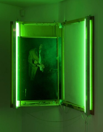 Joris Van de Moortel, Untitled (Smoke and noise in green light), 2013, Galerie Nathalie Obadia
