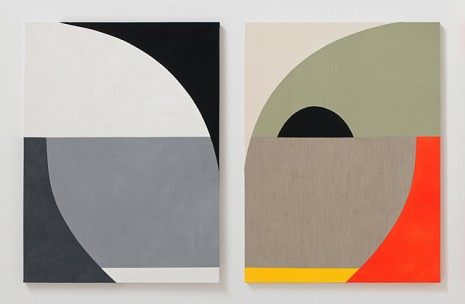 Sarah Crowner, Untitled (Diptych), 2011, Galerie Catherine Bastide