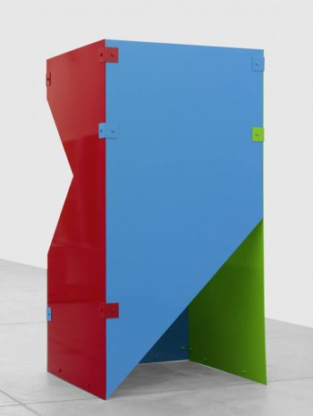Sam Falls, Untitled (Cobalt, Red, Sky Blue, Teal 18), 2013, Galerie Eva Presenhuber