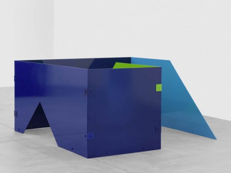 Sam Falls, Untitled (Cobalt, Purple, Sky Blue, Teal 13), 2013, Galerie Eva Presenhuber