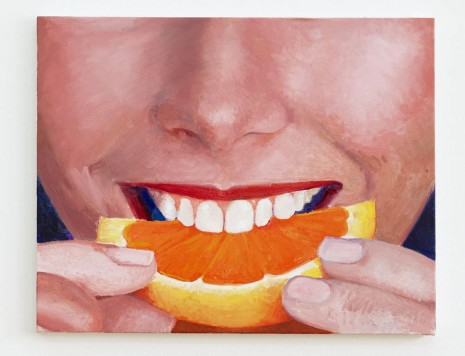 Nolan Simon, Orange Slice Painting or My Face When you dig down one more layer and it's all about a deeper sort of antagonistic respect for people, 2013, Sies + Höke Galerie