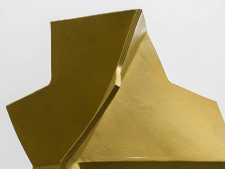 John Mason, Folded Cross, Yellow-Gold (detail), 2002, David Kordansky Gallery