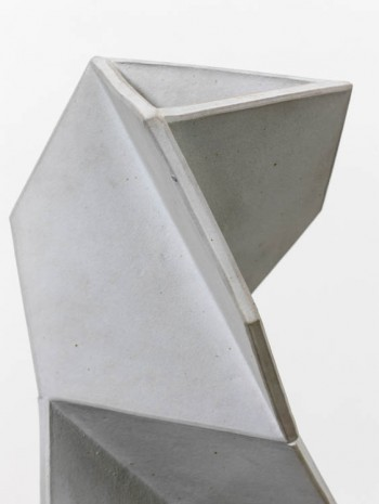John Mason, Vertical Torque, White (detail), 1997, David Kordansky Gallery