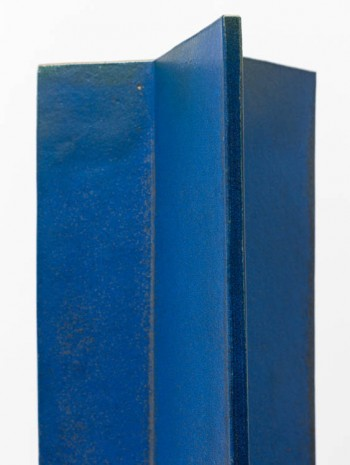John Mason, Vertical Intersection, Blue (detail), 1997, David Kordansky Gallery