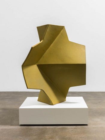 John Mason, Folded Cross, Yellow-Gold, 2002, David Kordansky Gallery
