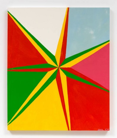 Chris Martin, 7 Pointed Star #1, 2013, David Kordansky Gallery