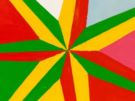 Chris Martin, 7 Pointed Star #1 (detail), 2013, David Kordansky Gallery
