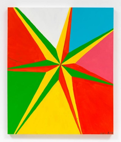 Chris Martin, 7 Pointed Star #2, 2013, David Kordansky Gallery