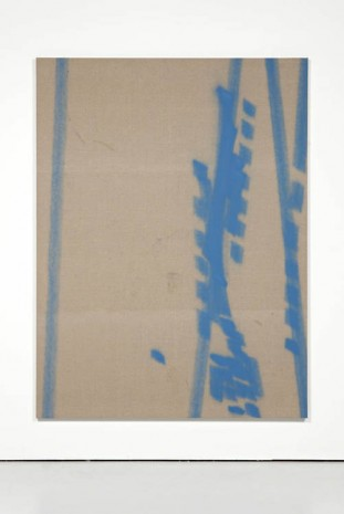 Fredrik Værslev, Untitled (Trolley Painting: Cream and Light Blue), 2012, The Modern Institute