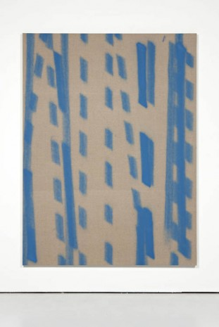 Fredrik Værslev, Untitled (Trolley Painting: Blue stripes), 2012, The Modern Institute