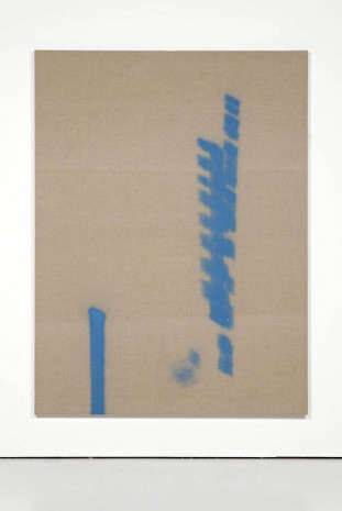 Fredrik Værslev, Untitled (Trolley Painting: Two blue lines), 2012, The Modern Institute