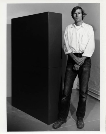 John McCracken, John McCracken in his studio, Costa Mesa, California, 1966, David Zwirner