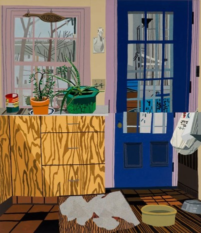Jonas Wood, Kitchen With Jade and Aloe Plants, 2013, Anton Kern Gallery