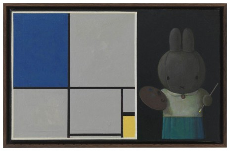 Liu Ye, Miffy with Mondrian, 2013, Johnen Galerie