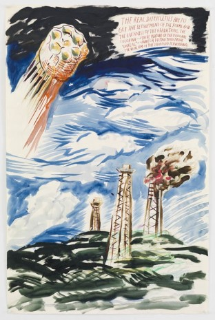 Raymond Pettibon, No Title (The real difficulties…), 2013, David Zwirner