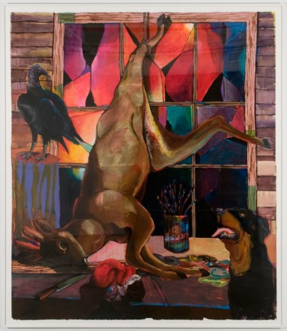 Karen Heagle, Studio Still Life with Partially Disemboweled Deer, 2011, I-20 Gallery (closed)