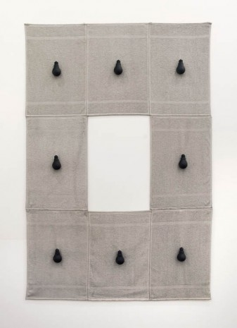 Paul Lee, Untitled (hand towels with bulbs), 2013, Michael Lett