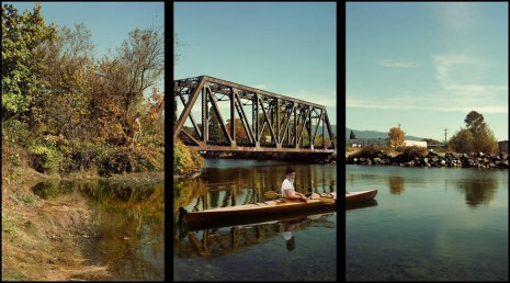 Rodney Graham, Paddler, Mouth of the Seymour, 2012 – 2013, Hauser & Wirth