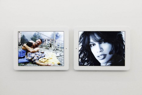 Massimo Grimaldi, 'Baghdad Bomb' and 'Rosario Dawson' Google Image Search Results Shown on Two Apple iPads, 2013, team (gallery, inc.)