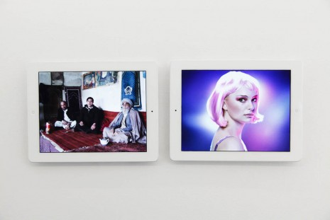 Massimo Grimaldi, 'Kabul Bomb' and 'Natalie Portman' Google Image Search Results Shown on Two Apple iPads, 2013, team (gallery, inc.)
