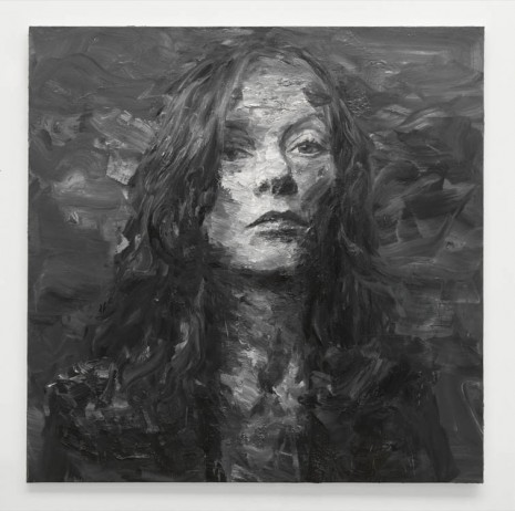 Yan Pei-Ming, Portrait d'Isabelle Huppert I, 2013, Galerie Thaddaeus Ropac