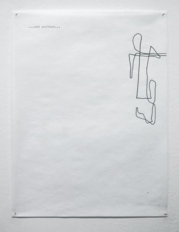 Jonathan Monk, A drawing that illustrates my last show at Meyer Riegger Karlsruhe, another, and another etc, 2000, Meyer Riegger