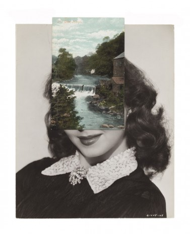 John Stezaker, Mask (Film Portrait Collage) CLVIII, 2013, Mendes Wood DM