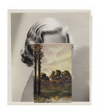John Stezaker, Mask (Film Portrait Collage) CLIX, 2013, Mendes Wood DM