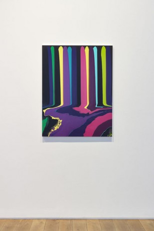Ian Davenport, Puddle Painting: Black Bruce, 2011, Ingleby Gallery