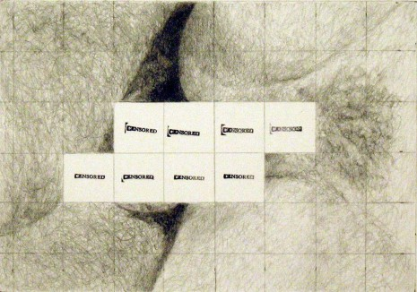 Betty Tompkins, Censored grid #7, 2007, Bortolami Gallery
