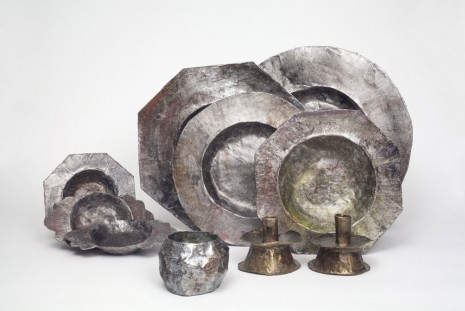 Liz Glynn, Sixteenth Century Pewter Tableware (Wrecked and Recovered, Dominican Republic), 2013, Paula Cooper Gallery