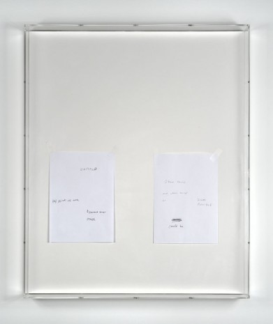 Lasse Schmidt Hansen, Untitled text (like notes), 2013, galerie hussenot