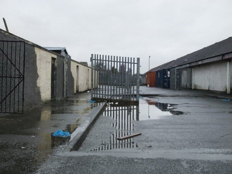 Willie Doherty, Remains (Kneecapping behind Creggan Shops), 2013, Kerlin Gallery