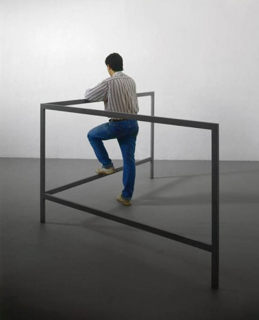 Michelangelo Pistoletto, Struttura per parlare in piedi (Structure for Talking while Standing), 1965 - 1966, Luhring Augustine