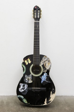 Olivier Millagou, Every Time I Kill An Animal With My Guitar It Appears Above, 2014, Galerie Sultana