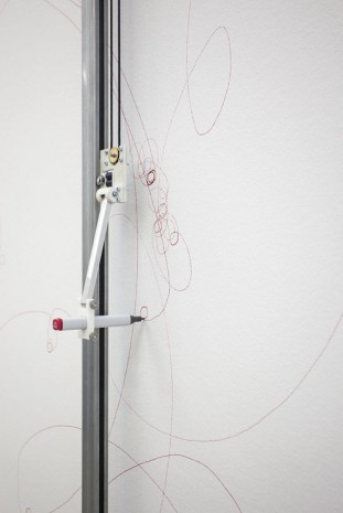 Angela Bulloch, Elliptical Song Drawing Machine (detail), 2014, Esther Schipper