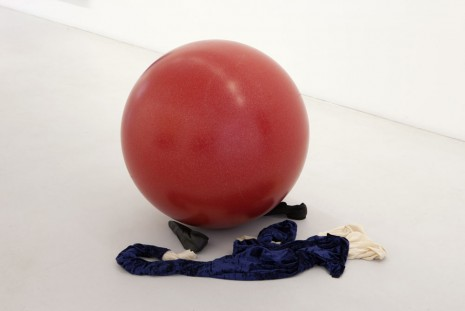 Latifa Echakhch, Untitled (Red ball and figure), 2012, kamel mennour